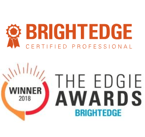 BrightEdge Certified Professional and an BrightEdge Edgies Award Winner for SEO Performance and Results